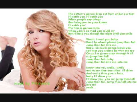 Taylor Swift - Jump then fall (Lyrics on screen)