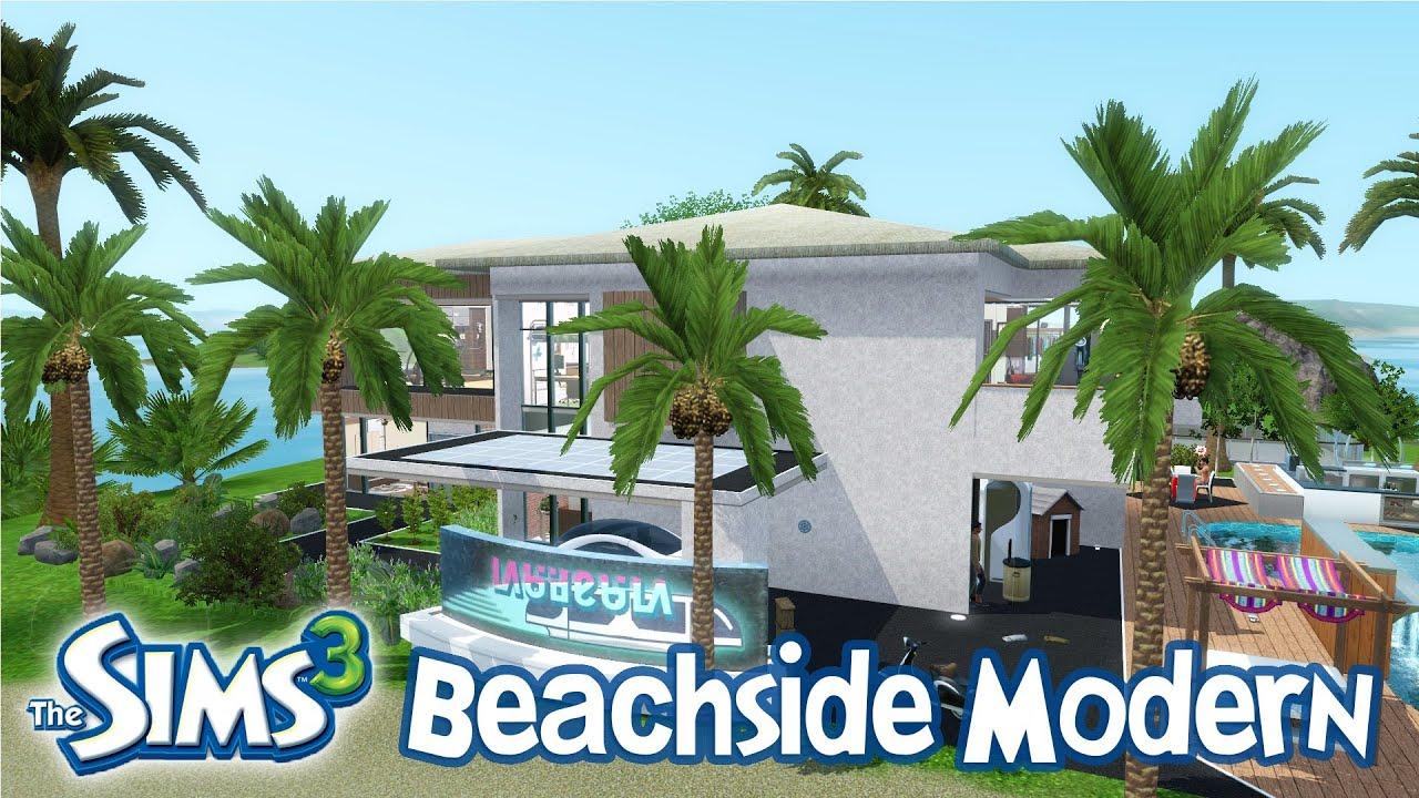 The Sims 3 House Designs Beachfront Modern Walkthrough