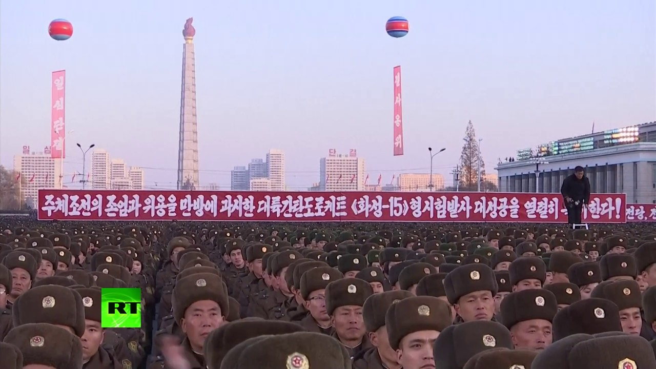 Pyongyang Rally: Thousands of North Koreans show support for latest missile test
