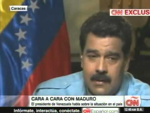 Presidente Nicolás Maduro entrevistado en CNN por Christiane Amanpour este 7/3/2014