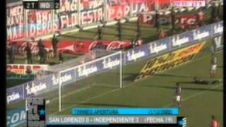 San Lorenzo 0 Independiente 3 Apertura 2002 (Resumen Completo) Independiente Campeon