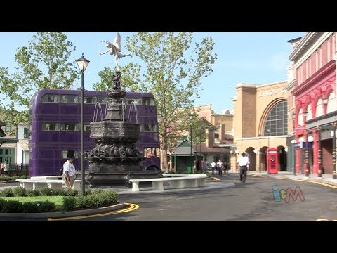 Diagon Alley London waterfront tour - Wizarding World of Harry Potter expansion. Universal Orlando