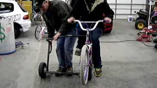 "Side Hack bicycle.  20"" bicycle with side car."
