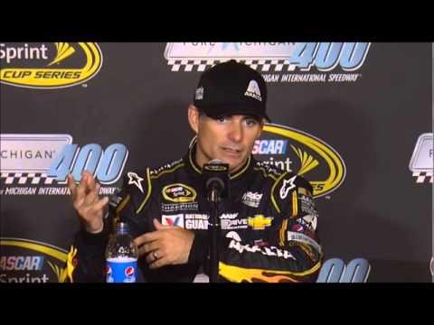 Jeff Gordon Winner Pure Michigan 400 NASCAR Video Interview