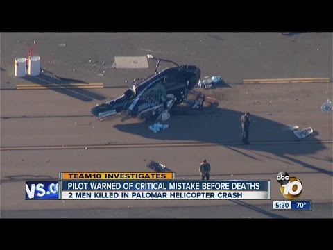 Team 10: Pilot warned of critical mistake before deaths