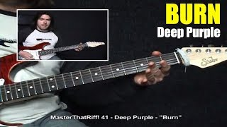 """Burn"" by Deep Purple - Guitar Lesson w/TAB - MasterThatRiff! 41"