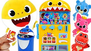 Pinkfong Baby Shark drinks vending machine toys play! Let's get milk and candy~! #PinkyPopTOY