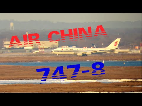 Air China Boeing 747-8 Long Range Takeoff JFK