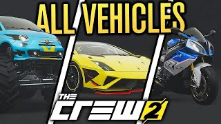 The Crew 2 - All cars and vehicles