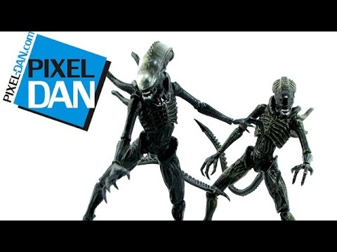 Hiya Toys Aliens: Colonial Marines Xenomorph Lurker & Soldier Figures Video Review