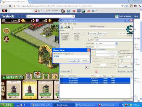 Hack De Gardens Of Time Con Cheat engine 03/05/2012