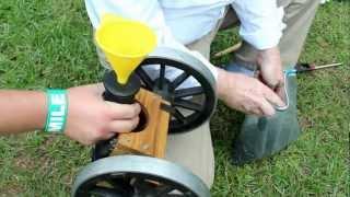 Mini Canhão - Praticando tiro ao alvo