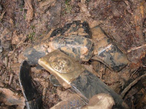 Раскопки немецких Блиндажей \Digging of German dugouts