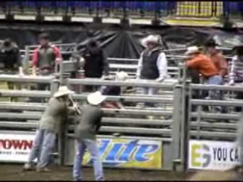 PBR bull riding at reading.wmv Video