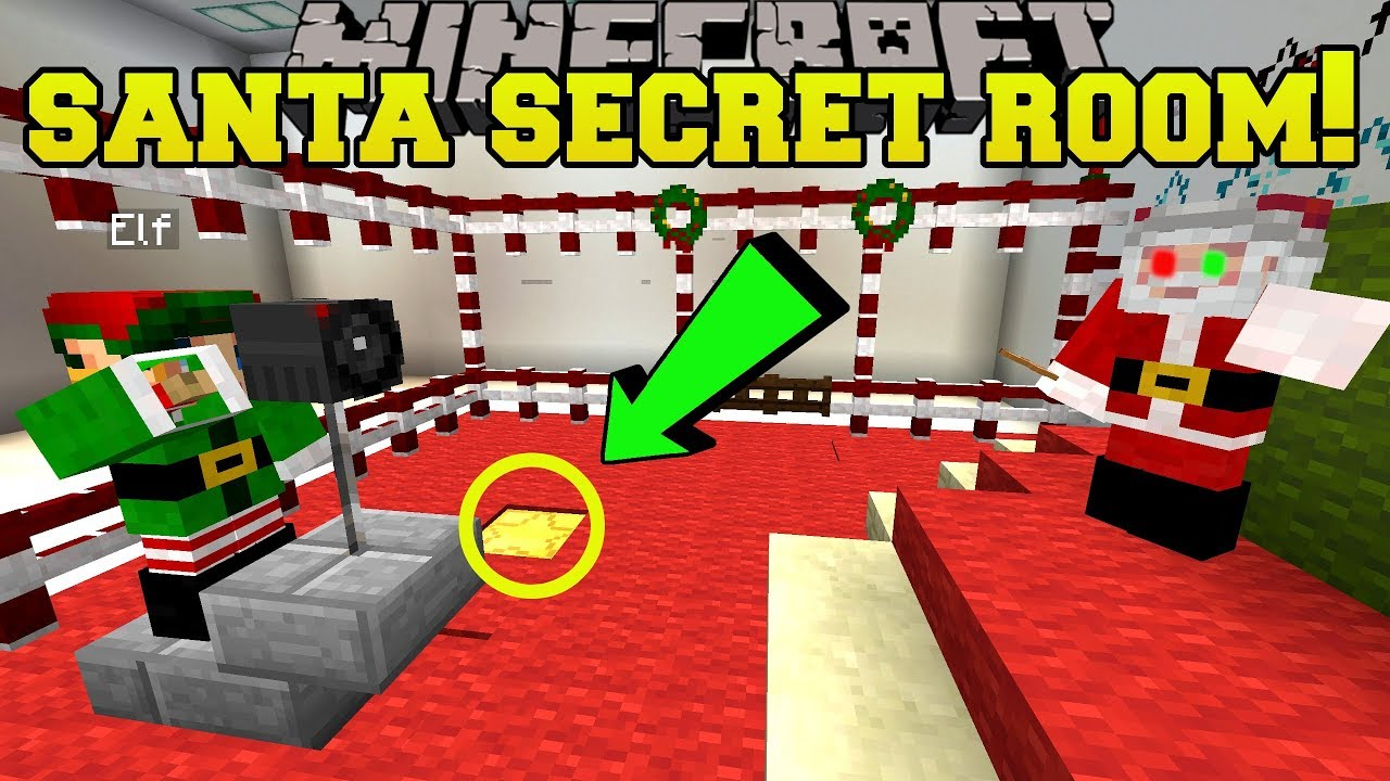 Minecraft: SANTA'S SECRET ROOM!!! - Find The Button Christmas Dreams - Custom Map