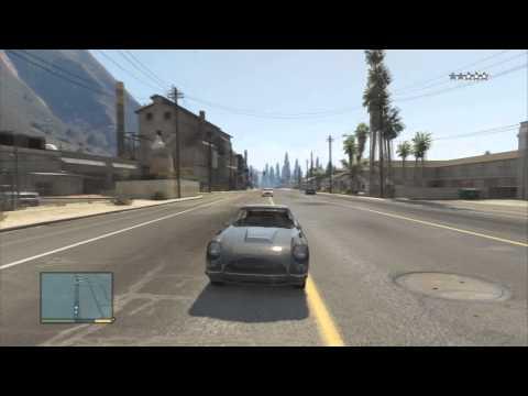 GTA 5   coche que dispara y lanza pinchos. increible !