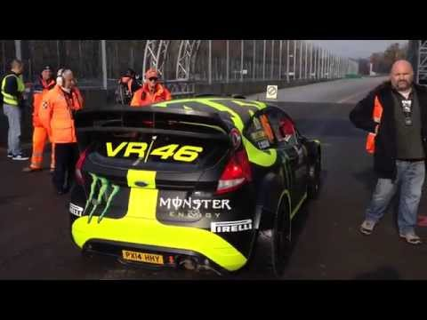 Monza Rally Show 2014 - SS4 - Robert Kubica vs Valentino Rossi