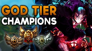 GOD TIER Champions in Bronze/Silver/Gold - 7.3+ FOR EVERY ROLE (League of Legends)