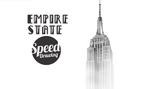 Speed Drawing - Misty Empire State Building