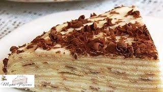 Блинный торт со сметанным кремом рецепт