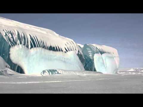TSUNAMI CONGELADO DE 15 METROS. La Antártida. Imágenes espectaculares