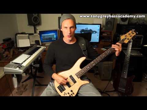 Bass Guitar Lesson   Technique Building - Tony Grey video