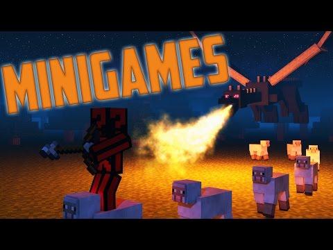 Minecraft Minigames - Paint the Sheep Dragon!