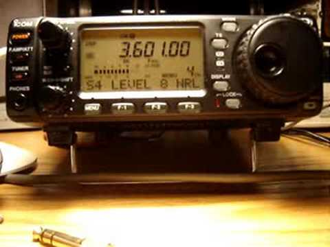 QRP CW VFO homebrew received on IC703
