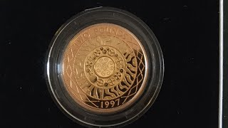 1997 Proof £2 two pound Gold Coin
