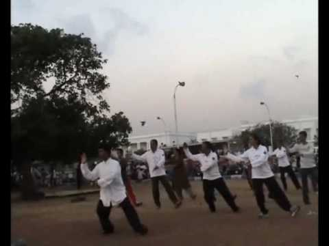 Sunrise Tai chi in Marina Beach,Chennai by Fu Sheng Yuan Taichi Academy - India Chapter 2/2