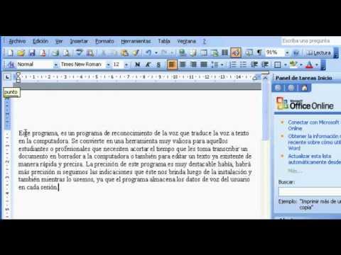Voz a texto y Dictale directo al PC