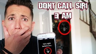 (HES RIGHT BEHIND YOU?!) DONT TALK TO SIRI AT 3AM | THIS IS WHY!! (WE FOUND HIM IN THE BASEMENT!)