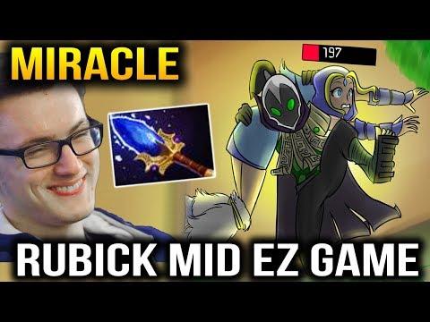 Miracle- Rubick Mid Like A Boss VS MagE- Dota 2