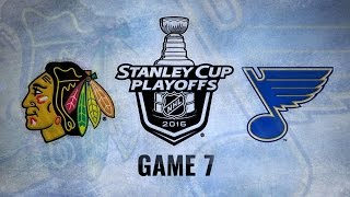 Blues take series with 3-2 Game 7 win over Blackhawks