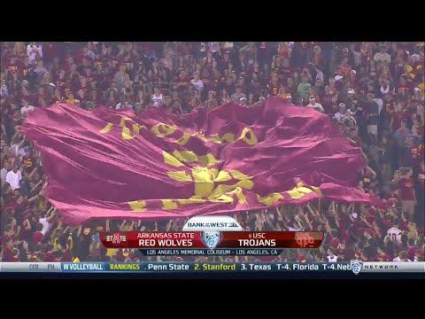 NCAAF /  Week 01 /  05.09.2015  / Arkansas State Red Wolves @ (8) USC Trojans