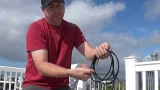 #168: How to coil coax, wire, rope, etc. to be free of kinks, twists and knots