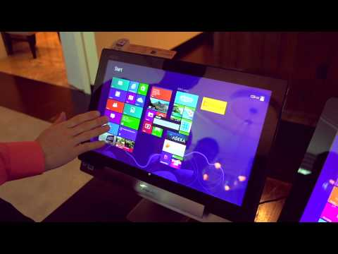 ASUS Transformer AIO P1810 All-in-One PC &amp; World&#039;s Biggest Tablet - Linus Tech Tips CES 2013