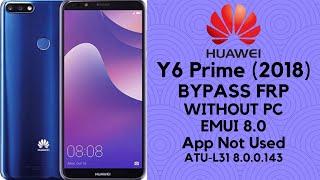 ATU L31 FRP Bypass 8.0 | Huawei Y6 Prime (2018) Google Unlock (app not used )_100%