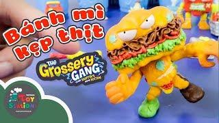 Mở đồ chơi Grossery Gang bánh mì kẹp thịt và ngoại truyện tập 3 ToyStation 181