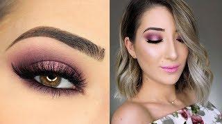 Sparkly Pink Halo Smokey Eye Makeup Tutorial
