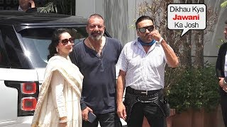 Jacky Shroff's Funny Moment With Sunjay Dutt And Media At Airport Going For Promotion Of Prassthanam