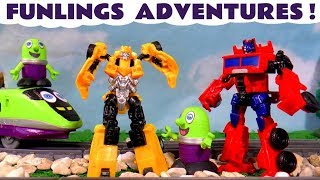 Funny Funlings Adventures with Transformers Bumblebee Disney Cars and Paw Patrol TT4U