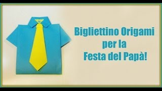 Come fare un Bigliettino Origami per Papà!/How to make an origami card for Father