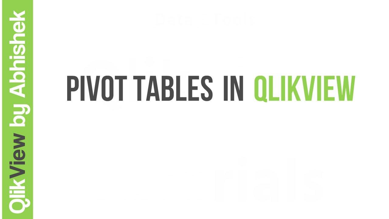 Qlikview pivot tables youtube for Pivot table design qlikview