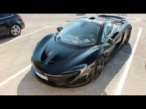 Black McLaren P1 in Cannes