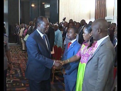 Présidence : Présentation des vœux de la presse au Président Alassane Ouattara