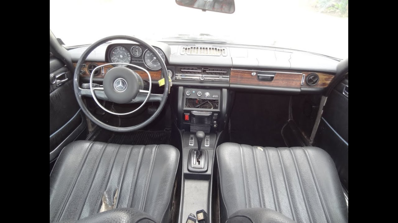 W114 Mercedes Benz 250c Coupe Oldtimer Interior Review