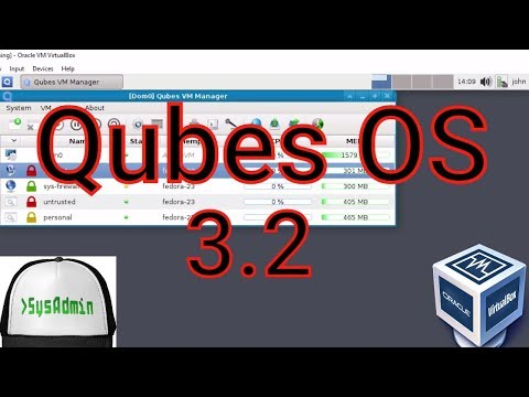 Qubes OS 3.2 Installation + Overview on Oracle VirtualBox [2017]