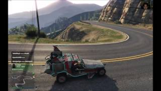 Grand Theft Auto V - Hackers can be nice! Lawnmower Adventure!