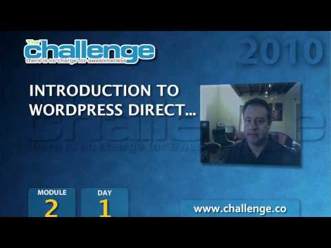 0 The Challenge 2010: Module 2/Day 1   WPD Introduction